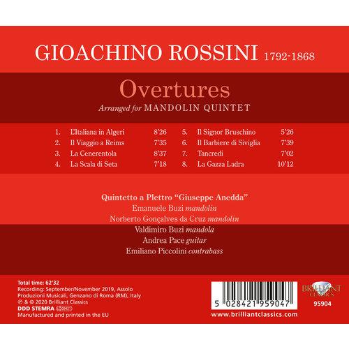 Brilliant Classics Rossini: Overtures arranged for Mandolin Quintet