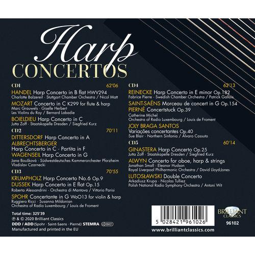 Brilliant Classics Harp Concertos (5CD)
