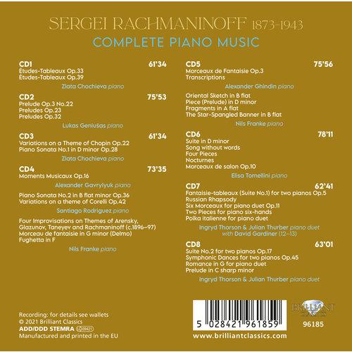 Brilliant Classics Rachmaninoff: Complete Piano Music
