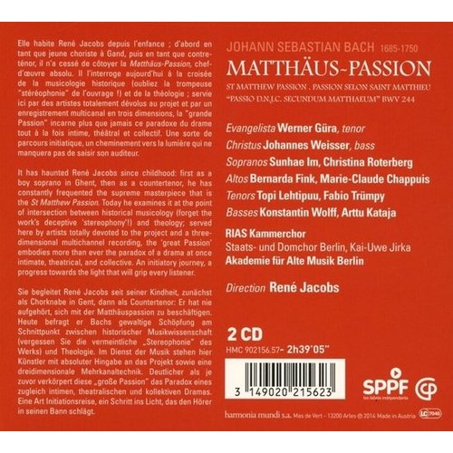 Harmonia Mundi J.S. Bach: Matthäus-Passion (2CD)