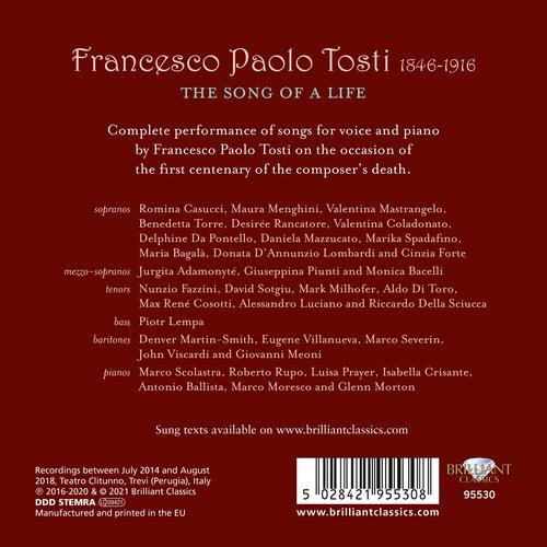 Brilliant Classics Tosti: The Song of a Life, Complete Vocal Chamber Music (18CD)