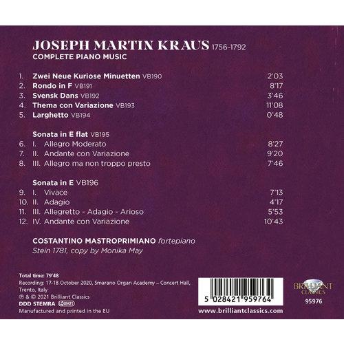 Brilliant Classics Kraus: Complete Piano Music