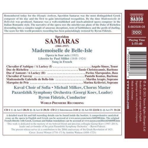Naxos Samaras: Mademoiselle de Belle-Isle