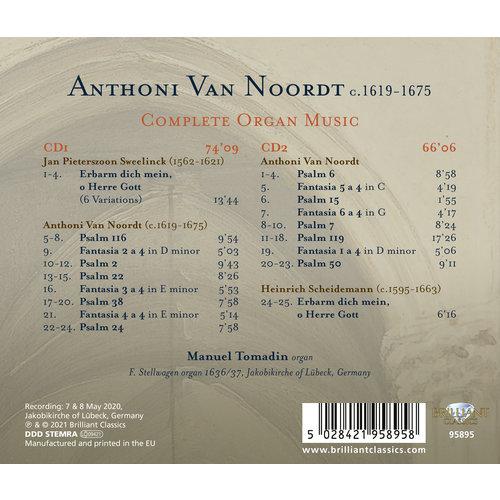 Brilliant Classics VAN NOORDT: COMPLETE ORGAN MUSIC