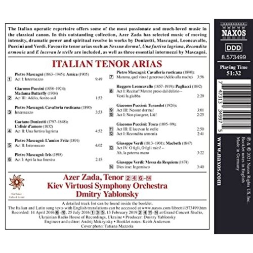 Naxos ITALIAN TENOR ARIAS