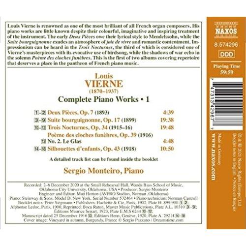 Naxos VIERNE: COMPLETE PIANO WORKS, VOL. 1 - SUITE BOURGUIGNONNE