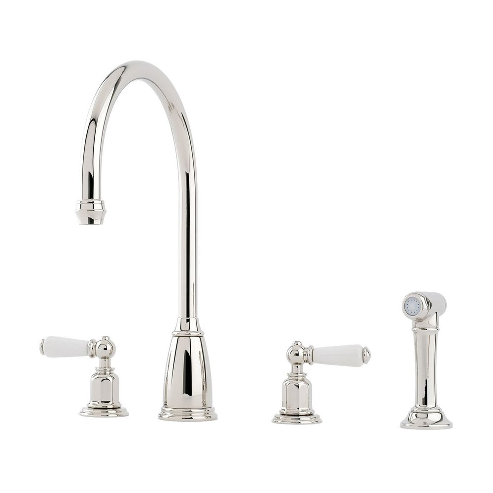 Perrin & Rowe Traditional Kitchen mixer Athenian E.4376 with rinse