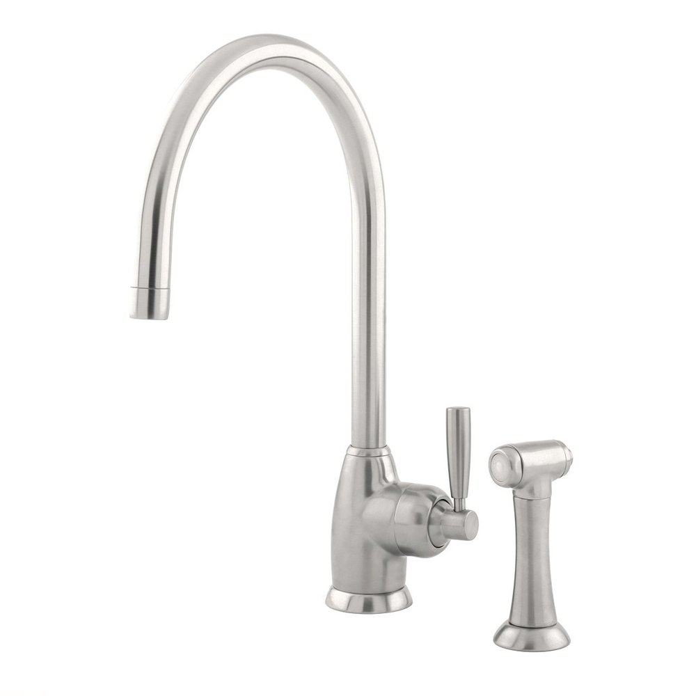 Perrin & Rowe Contemporary Kitchen mixer Mimas E.4846 C-spout with rinse