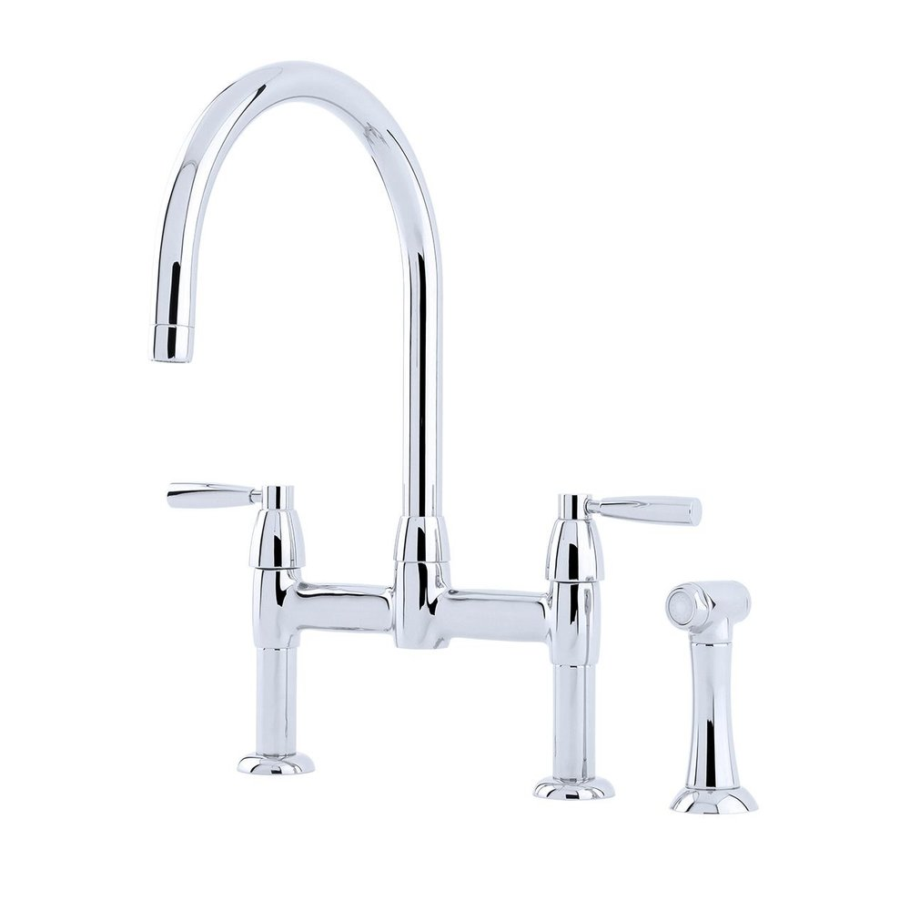 Perrin & Rowe Contemporary Kitchen bridge mixer Io E.4273 with rinse