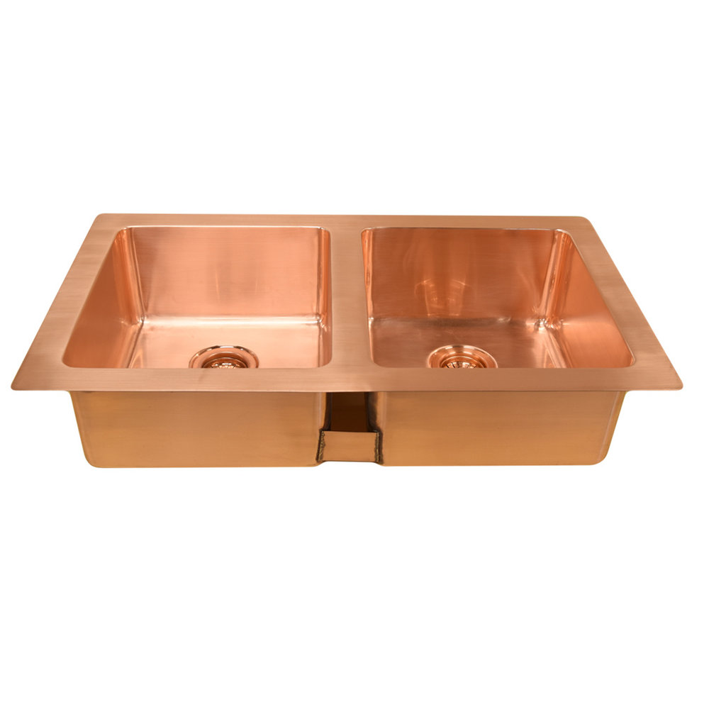 William Holland Undermount double - dubbele onderbouw keukenspoelbak metaal