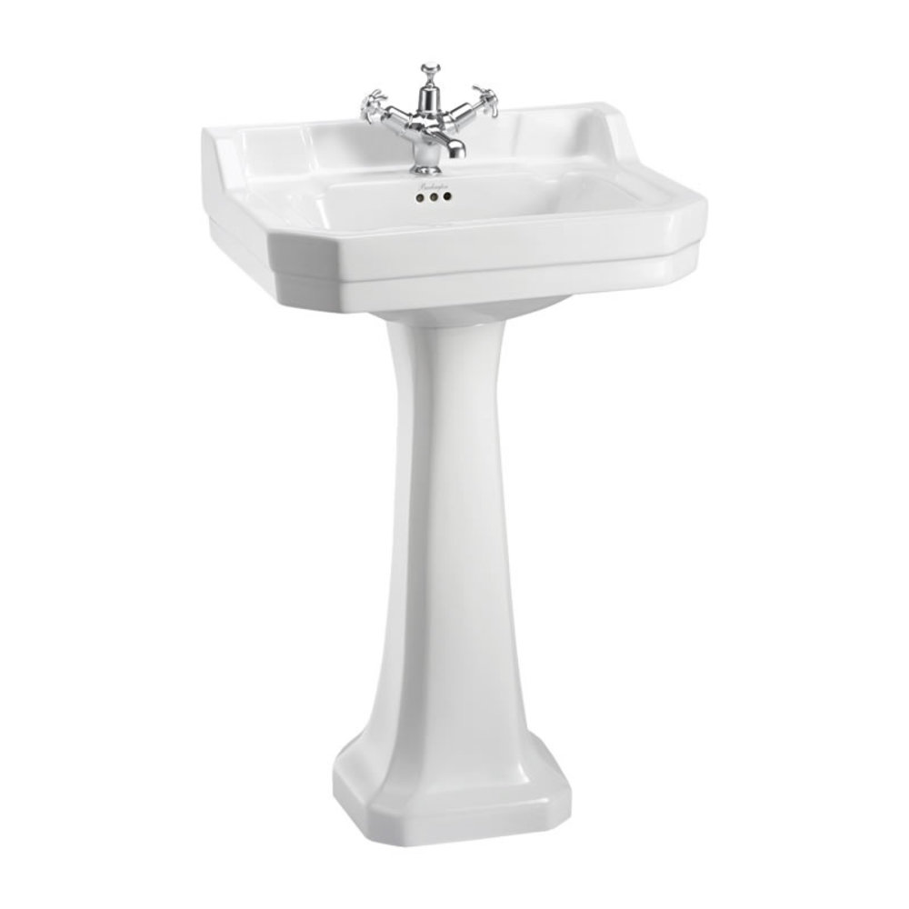 BB Edwardian Edwardian 56cm basin with pedestal