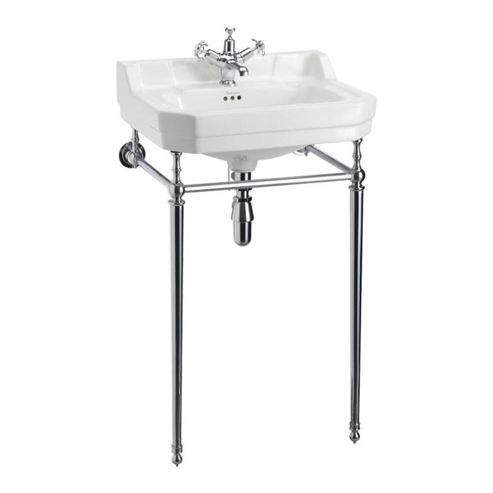 BB Edwardian Edwardian 56cm basin with chrome stand