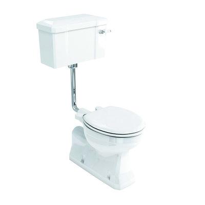 Halfhoog toilet met porseleinen reservoir AO