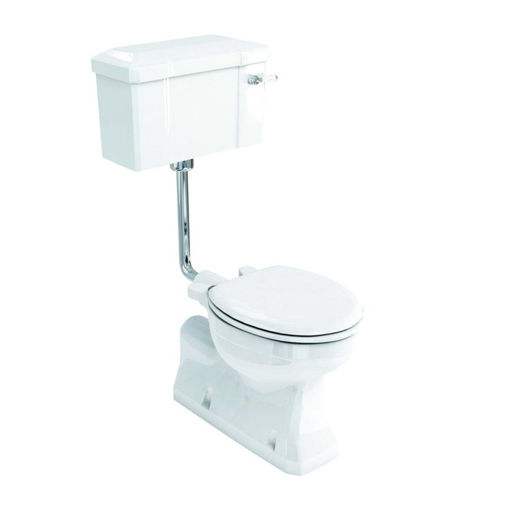 BB Edwardian Halfhoog toilet met porseleinen reservoir, onderuitlaat (AO)