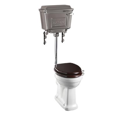 Halfhoog toilet met aluminium reservoir