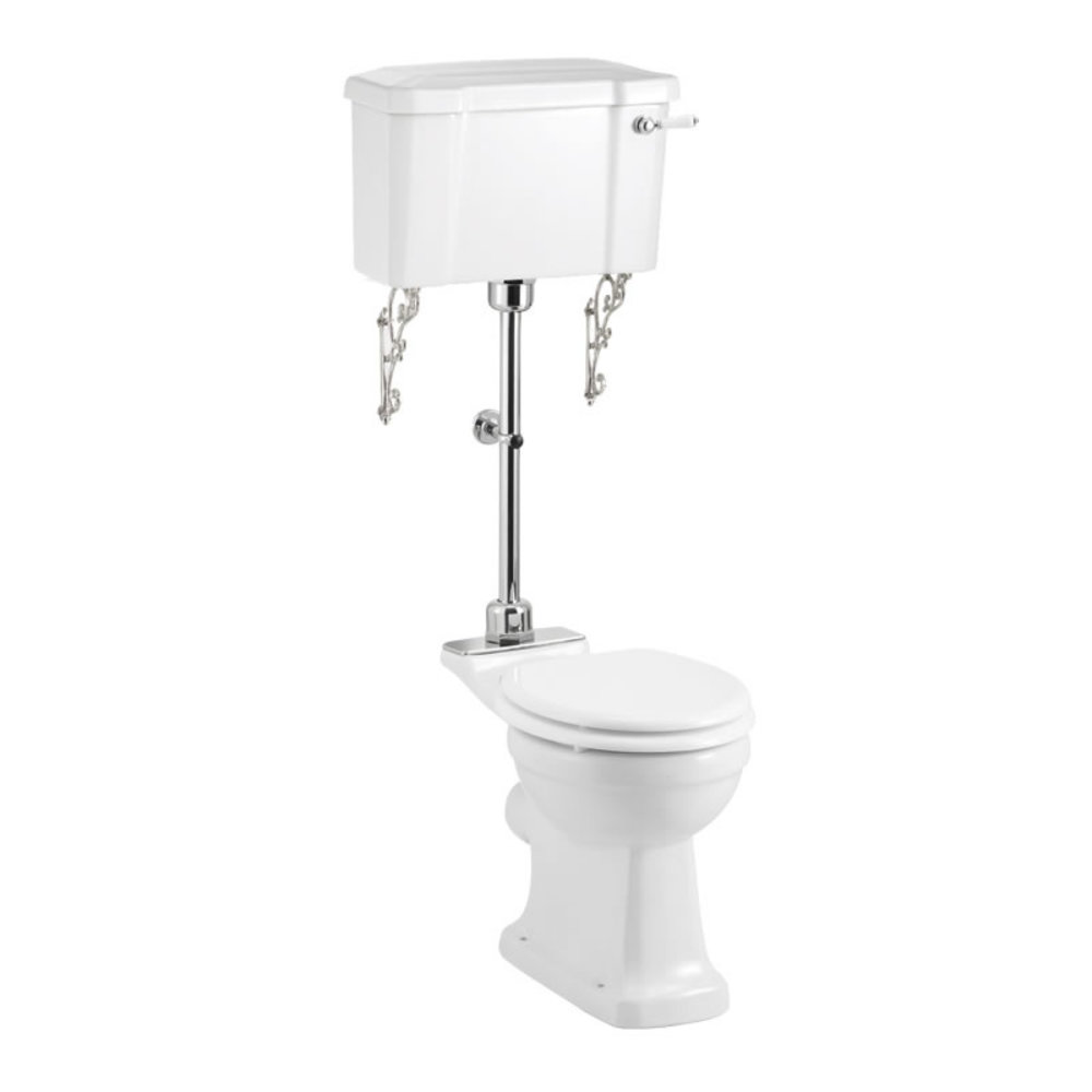 BB Edwardian Medium level toilet with porcelain cistern - p-trap