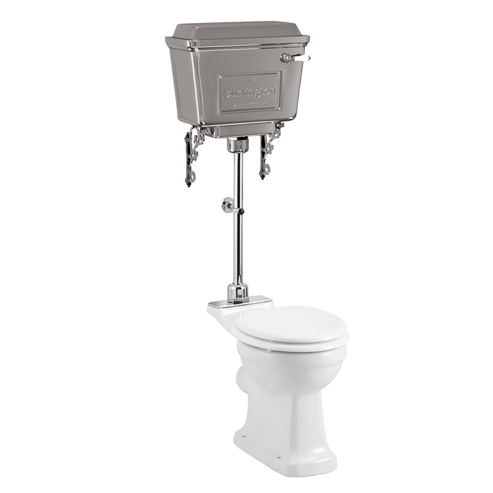 BB Edwardian Medium toilet met aluminium reservoir, achteruitlaat (PK)