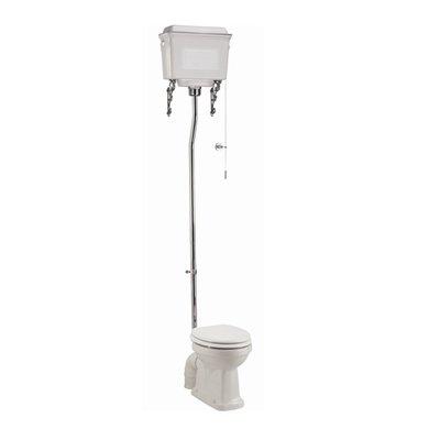 High level WC with aluminium cistern