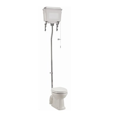 Hooghang toilet met aluminium reservoir