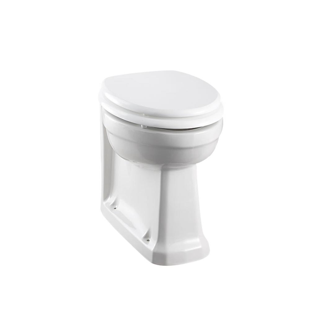BB Edwardian Staande toilet pot zonder spoelrand - tegen de muur te monteren