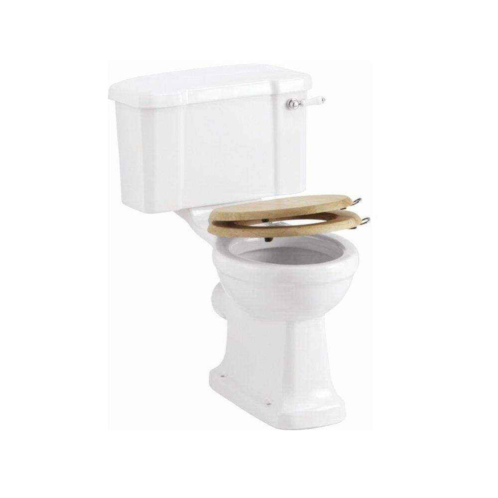 Burlington Soft close oak toilet seat