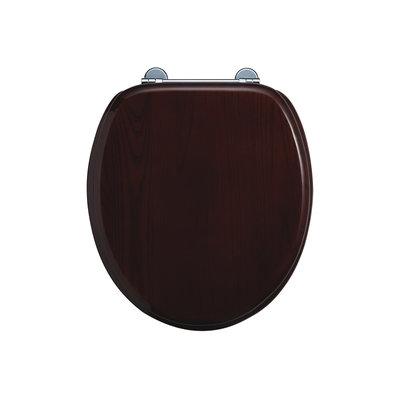 Mahogany toilet seat soft-close S17
