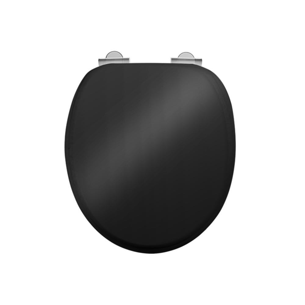 Burlington Soft close Gloss black toilet seat
