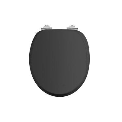 Matt black toilet seat soft-close S48