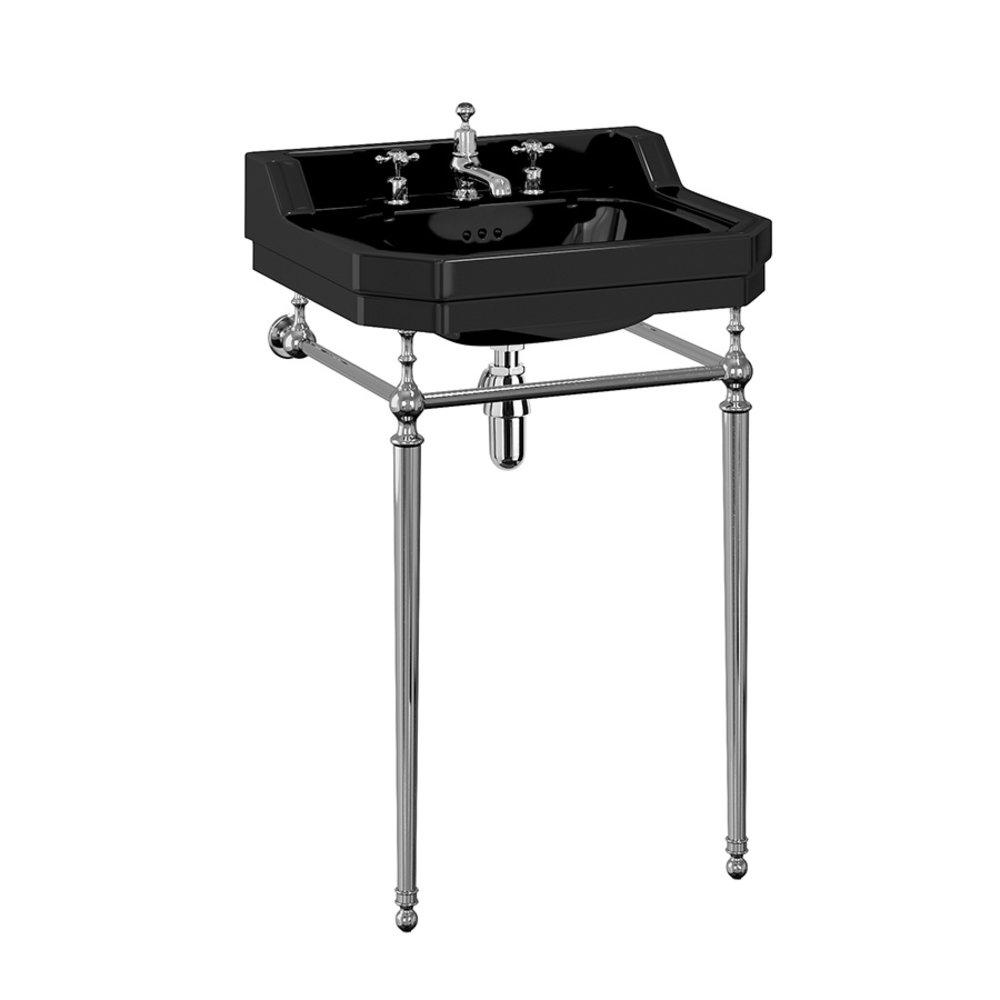 BB Edwardian Bespoke Edwardian 56cm Black  basin with stand