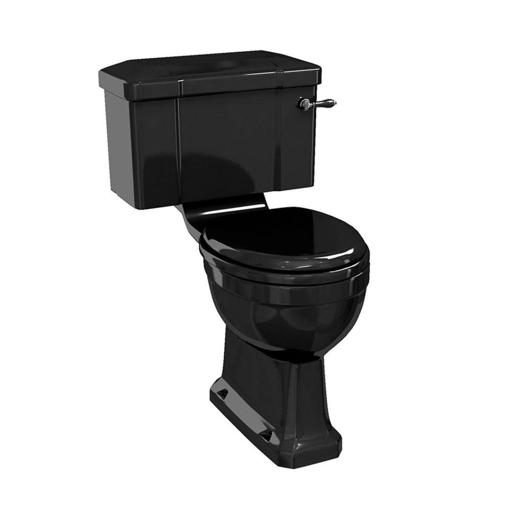 BB Edwardian Bespoke Close coupled toilet with cistern - p-trap - black