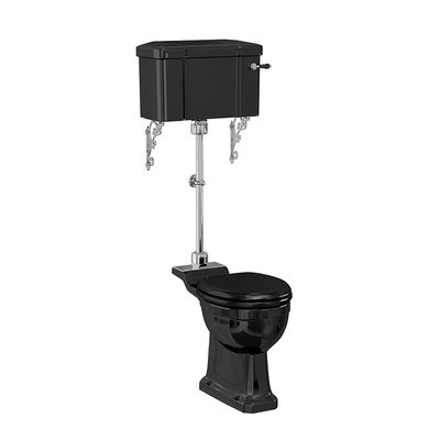 Medium toilet met porseleinen reservoir - Black