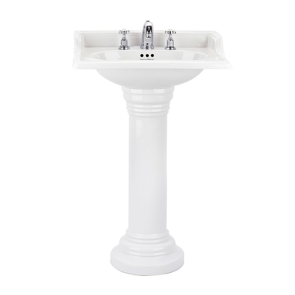 Perrin & Rowe Victorian Victorian 63.5cm basin with pedestal
