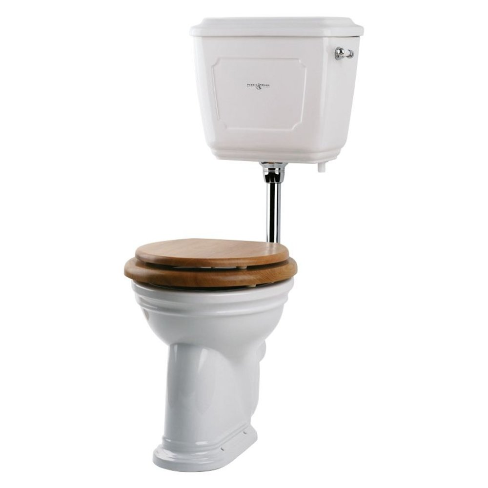 Perrin & Rowe Victorian Victorian Low level toilet (p-trap) with porcelain cistern