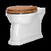 Perrin & Rowe Victorian Staande toilet pot - tegen de muur te monteren