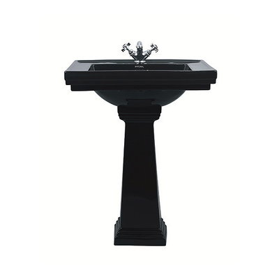 Deco Black 64cm met zuil