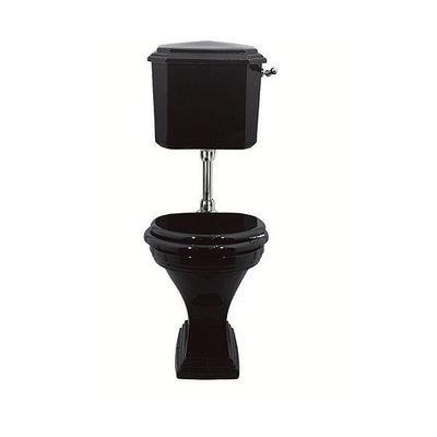 Deco Black halfhoog toilet met reservoir AO