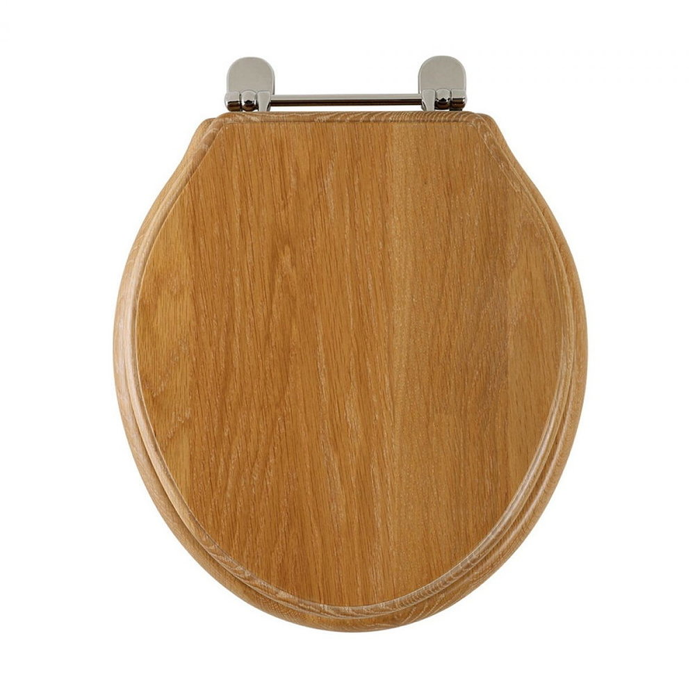 Imperial Oval houten toiletzitting met soft-close