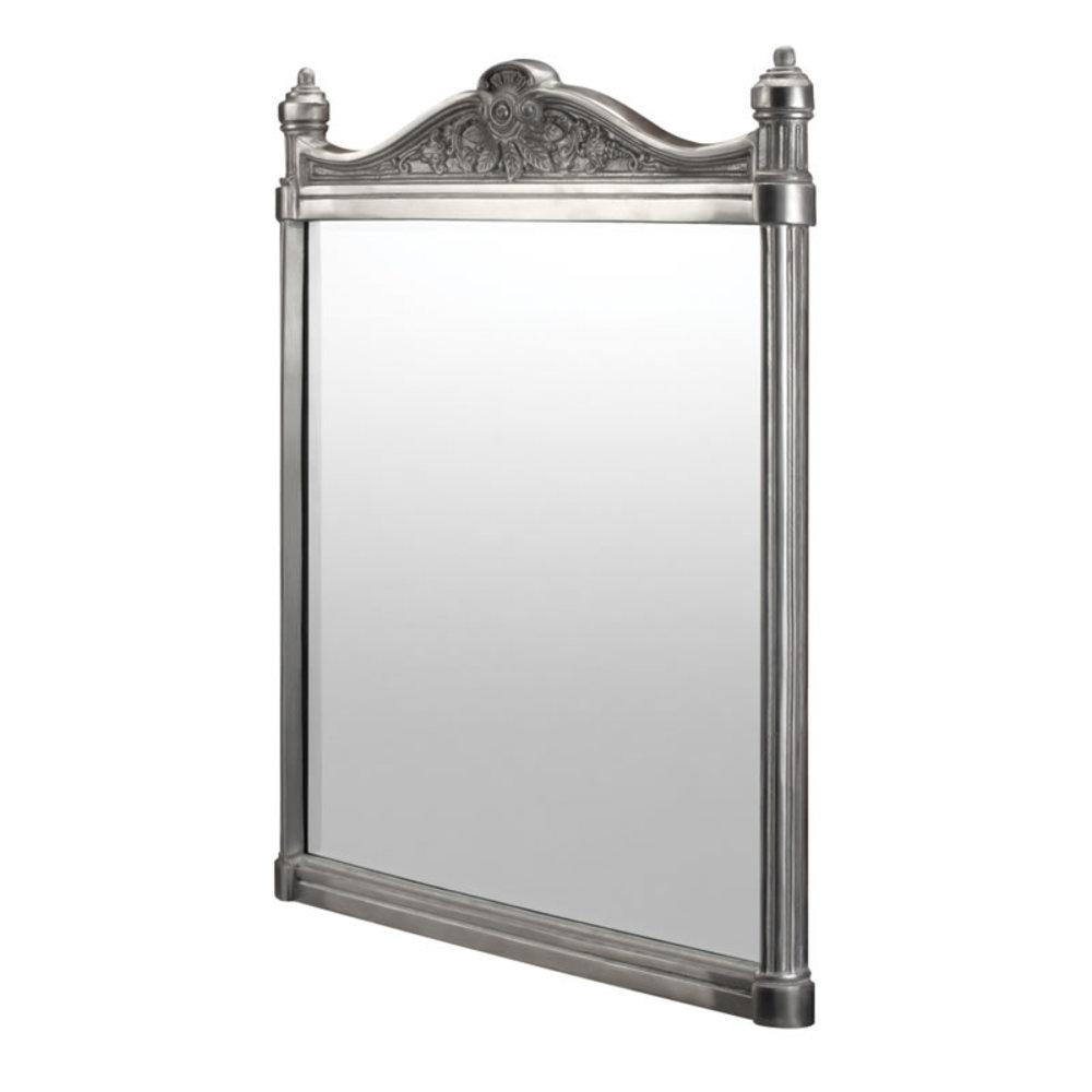 BB Edwardian Georgian spiegel - geborsteld aluminium 55x75cm