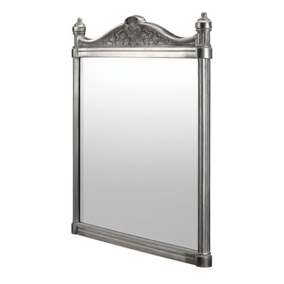 Georgian Mirror - Brushed Aluminium 55x75cm T37