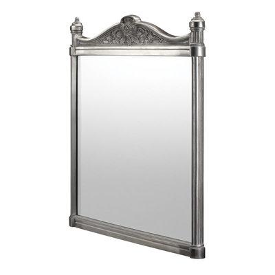 Georgian spiegel - geborsteld aluminium 55x75cm T37
