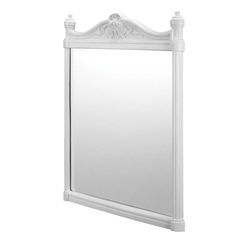 BB Edwardian Georgian Mirror - White Aluminium 55x75cm