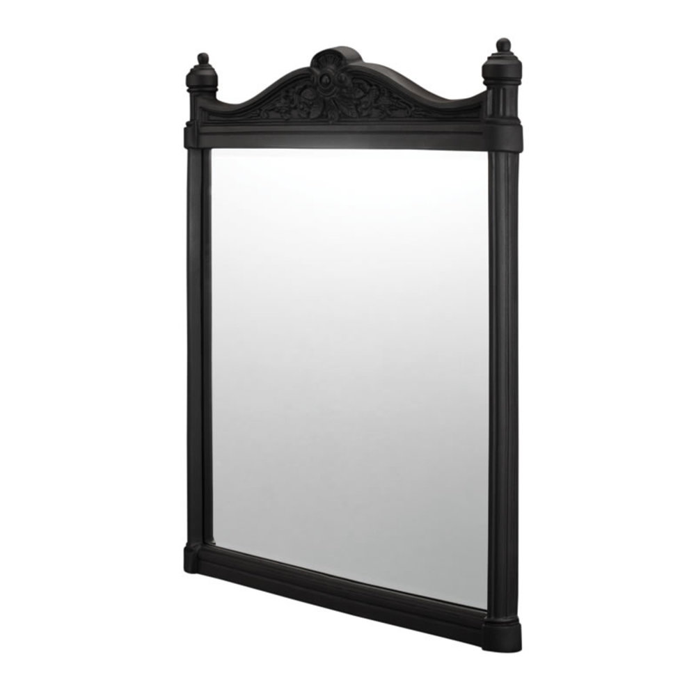 BB Edwardian Georgian Mirror - Black Aluminium 55x75cm
