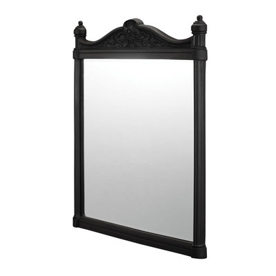 Georgian Mirror - Black Aluminium 55x75cm T47
