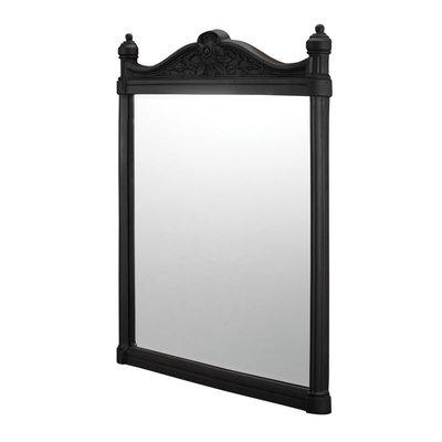 Georgian spiegel - aluminium zwart 55x75cm T47