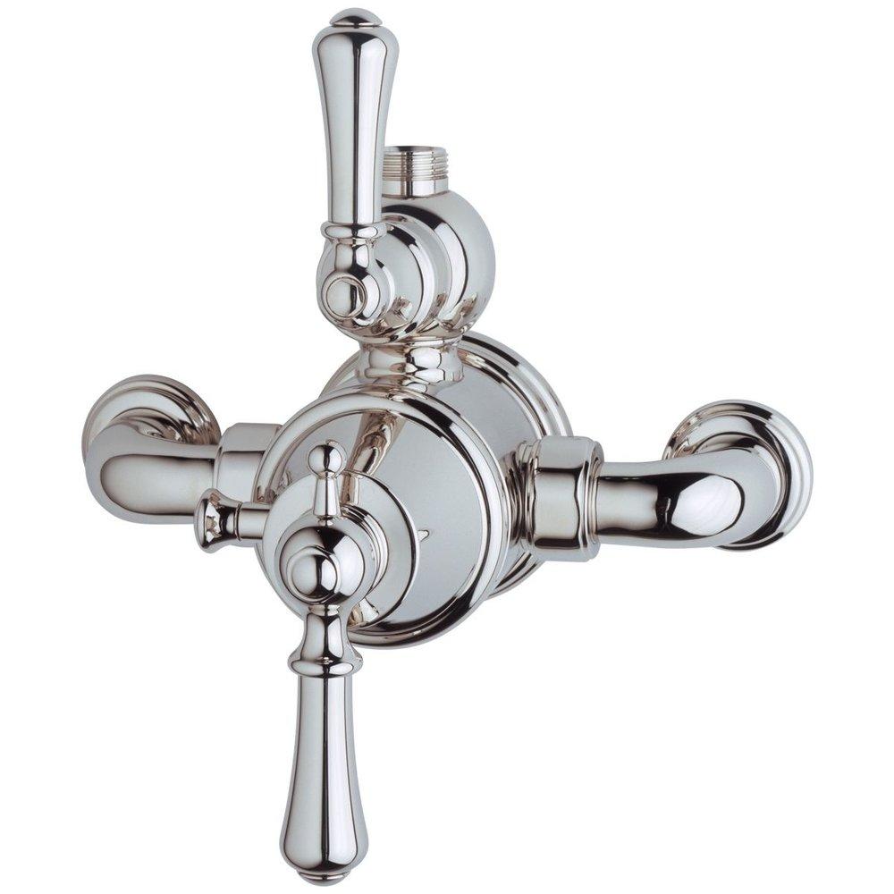 Perrin & Rowe Georgian Georgian Exposed shower thermo with top return elbow 5751/5397