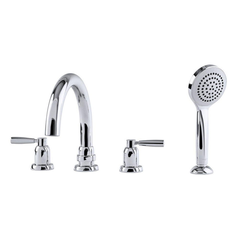 Perrin & Rowe Langbourn Langbourn deck mounted bath set with hand shower - levers E.3975