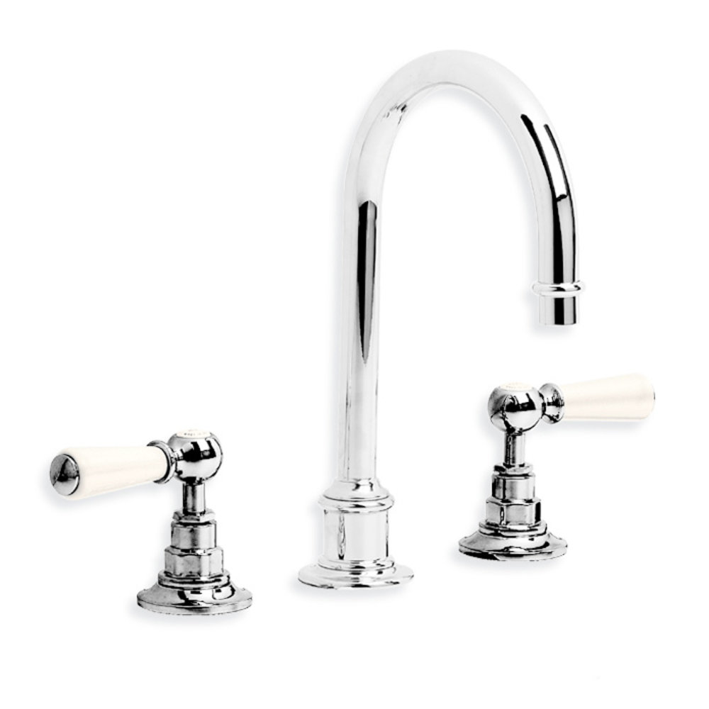 Lefroy Brooks 1900 Classic LB1900 Classic tubular 3-hole basin mixer with lever handles WL-1230