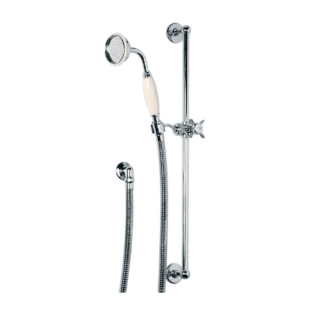 Lefroy Brooks 1900 Classic LB1900 Classic sliding rail set with rail, hand shower, hose and wall outlet LB-1727