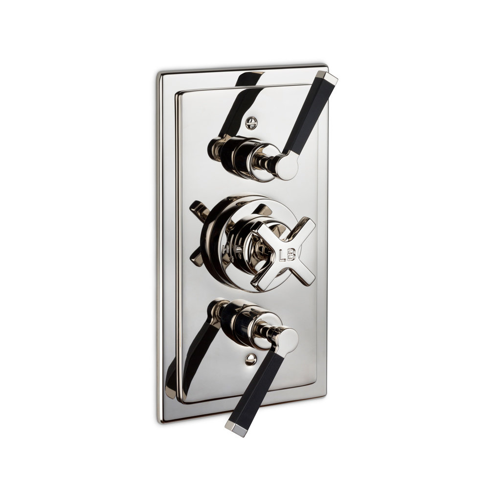 Lefroy Brooks 1930 Mackintosh LB1930 Mackintosh concealed shower thermo with 2x valves, black lever MB-8736