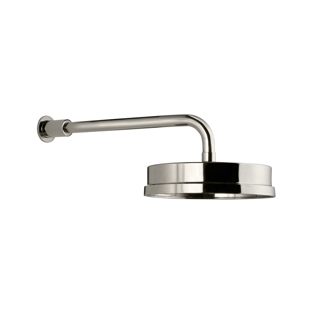 """Lefroy Brooks 1940 Fifth LB1940 Fifth 8"""" (20cm) shower rose with 330mm wall shower arm DP-1874"""